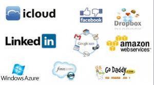 Logos de marcas en la nube